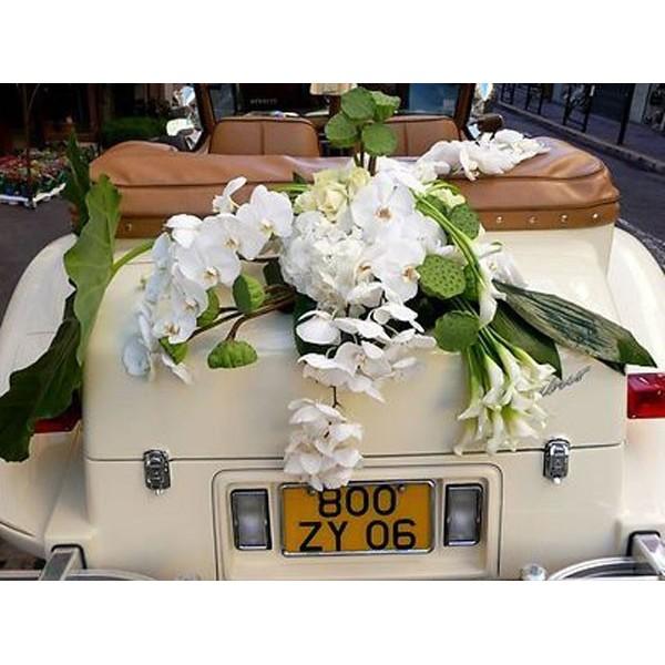 Déco voiture stessy fleurs