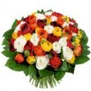 bouquet de renoncules panachées