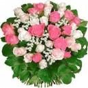 bouquet de muguet et roses