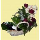 composition fleurs et vin