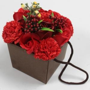 bouquet sac  savon rouge