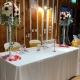 centre de table sur chandelier